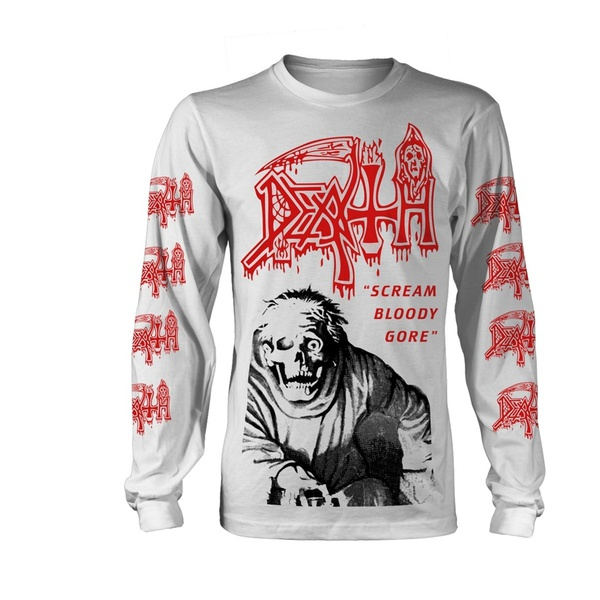 Cover DEATH, scream bloody gore longsleeve (boy) multicolored