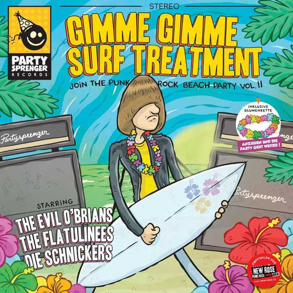 Cover V/A, gimme gimme surf treatment