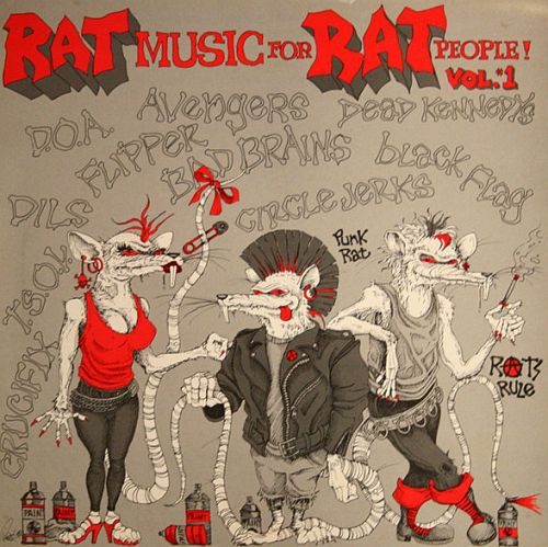 Cover V/A, rat music for rat people vol 1 (USED)
