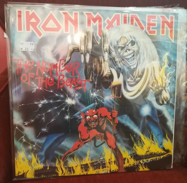 Cover IRON MAIDEN, number of the beast (USED)