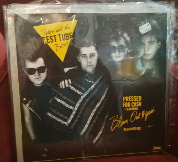 PETER & THE TEST TUBE BABIES/THE FITS, pressed for ca$h (USED) cover