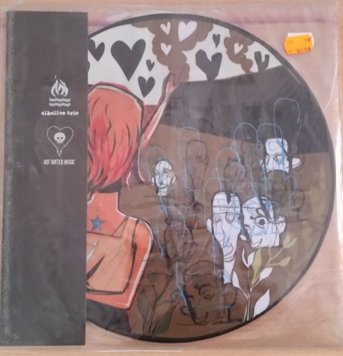 Cover ALKALINE TRIO/HOT WATER MUSIC, s/t  (USED)