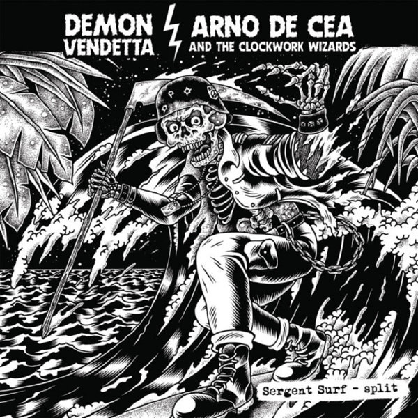 DEMON VENDETTA VS. ARNO DE CEA & CLOCKWORK WIZARDS, sergent surf - split cover