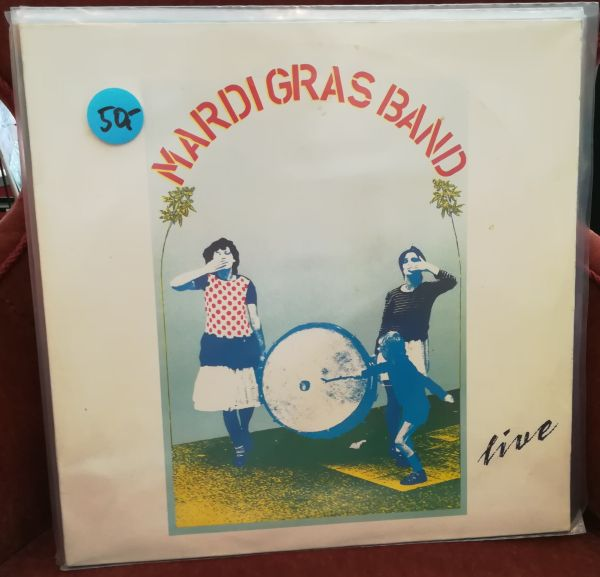 MARDI GRAS BAND, live (USED) cover