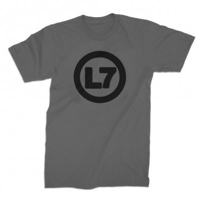 L7, spray logo (boy) charcoal cover