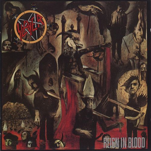 SLAYER, reign in blood cover