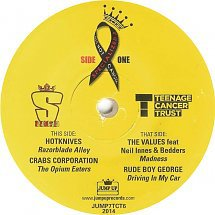 Cover HOTKNIVES/CRABS CORPORAION/VALUES/RUDE BOY GEORGE, split