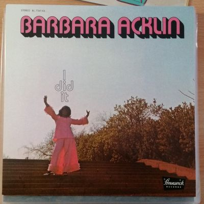 Cover BARBARA ACKLIN, i did it (USED)
