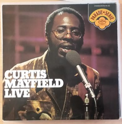 CURTIS MAYFIELD, live (USED) cover