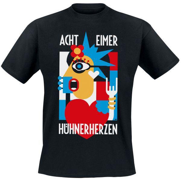 ACHT EIMER HÜHNERHERZEN, mosaik (girl) schwarz cover