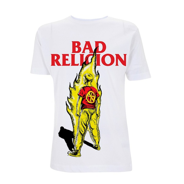 Cover BAD RELIGION, boy on fire (boy) white
