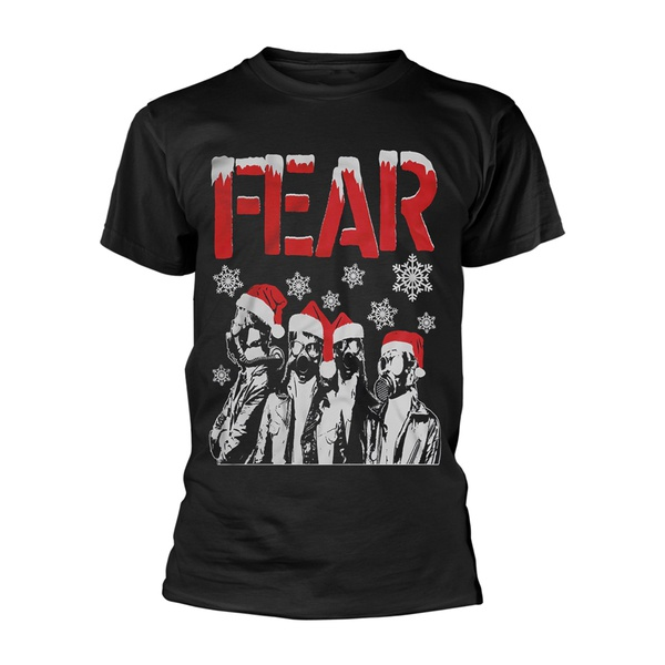 FEAR, gas mask santas (boy) black cover