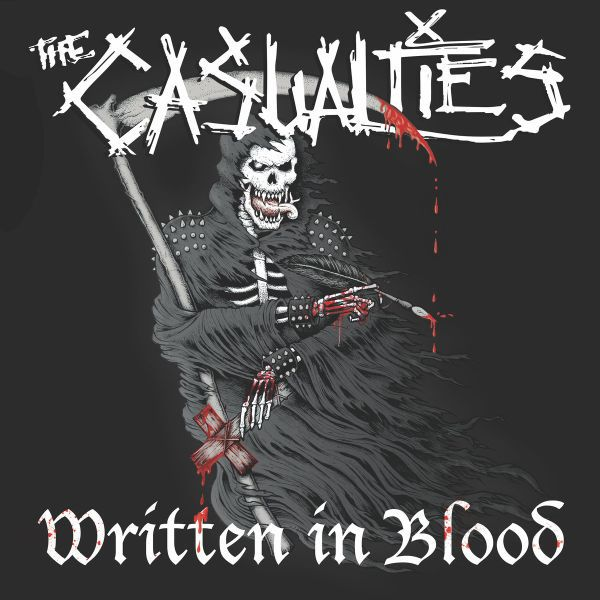 Cover CASUALTIES, written in blood