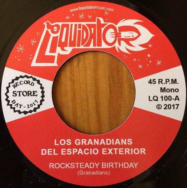 LOS GRANADIANS DEL ESPACIO EXTERIOR, rocksteady birthday cover
