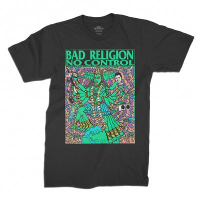 BAD RELIGION, no control kozik (boy) black cover