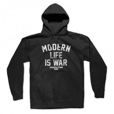 MODERN LIFE IS WAR, logo (boy) black cover