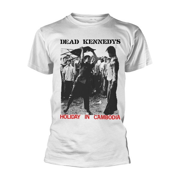 Cover DEAD KENNEDYS, holiday in cambodia (boy) white