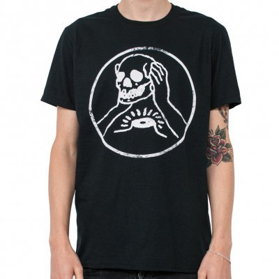 AGAINST ME, skull (boy) black cover