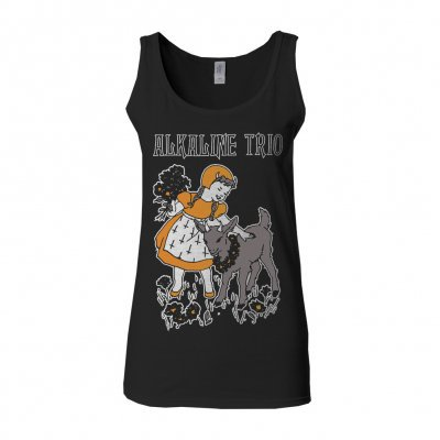 Cover ALKALINE TRIO, goat girl (girl) black tank top