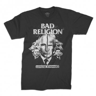 Cover BAD RELIGION, oppose tyranny (boy) black