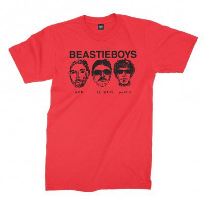 Cover BEASTIE BOYS, faces (boy) red