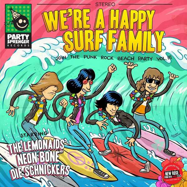 V/A, we´re a happy surf family cover
