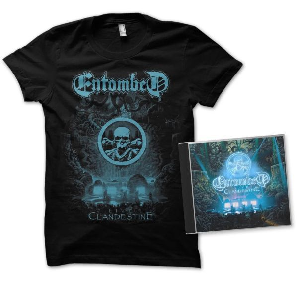 ENTOMBED, live clandestine (boy) black +CD cover