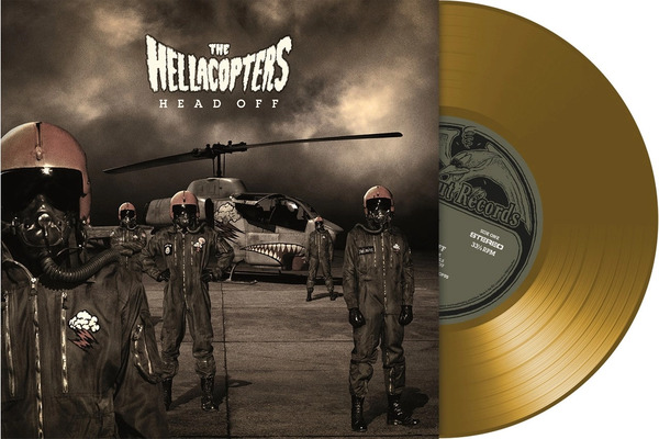 Cover HELLACOPTERS, head off (gold vinyl)
