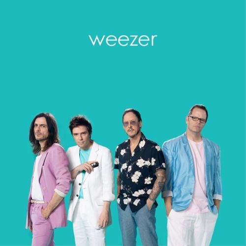 WEEZER, teal album cover