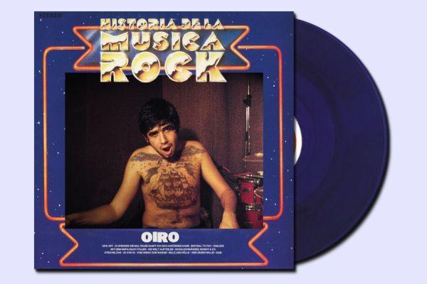 OIRO, historia de la musica rock (blau-violet) cover