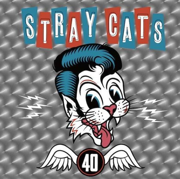 STRAY CATS, 40 cover