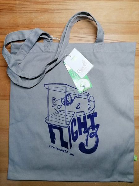 Cover FLIGHT 13, tote bag_circle navy
