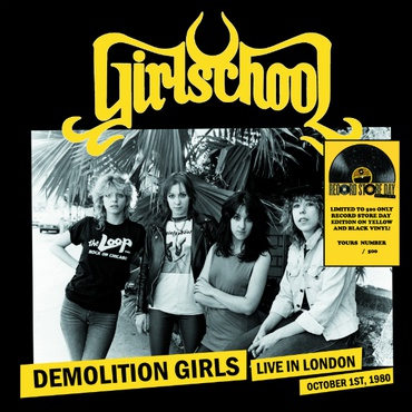 GIRLSCHOOL, live in london cover