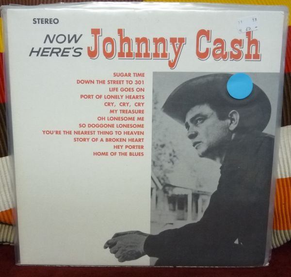 JOHNNY CASH, now here`s johnny cash (USED) cover