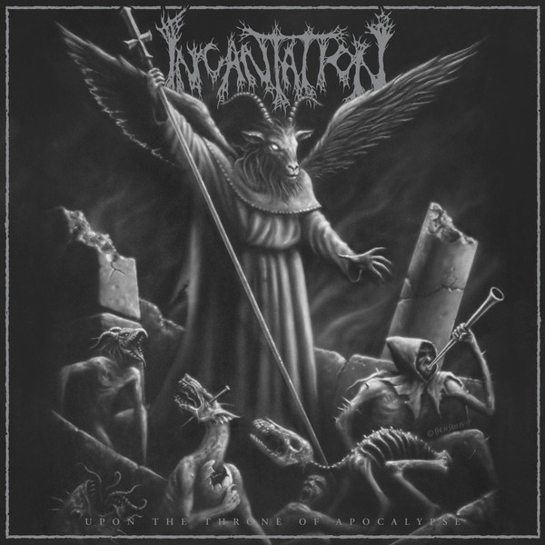INCANTATION, upon the throne of apocalypse cover