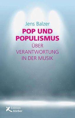 JENS BALZER, pop und populismus cover