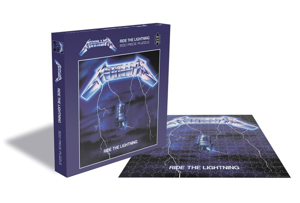 METALLICA, ride the lightning (500 piece jigsaw puzzle) cover