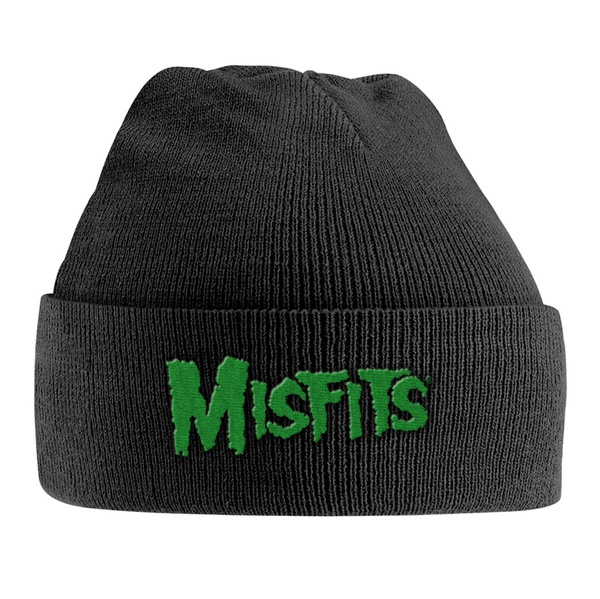 MISFITS, knitted ski hat green logo cover