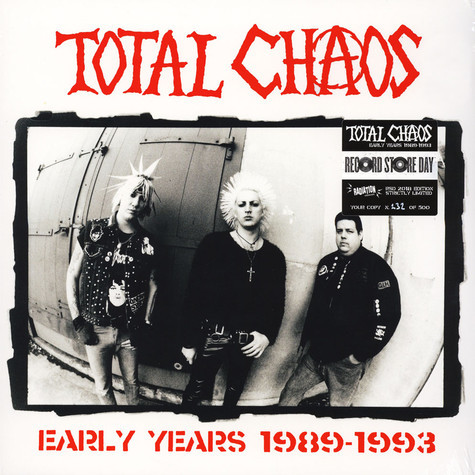 TOTAL CHAOS, early years 1989-1993 (RSD) cover