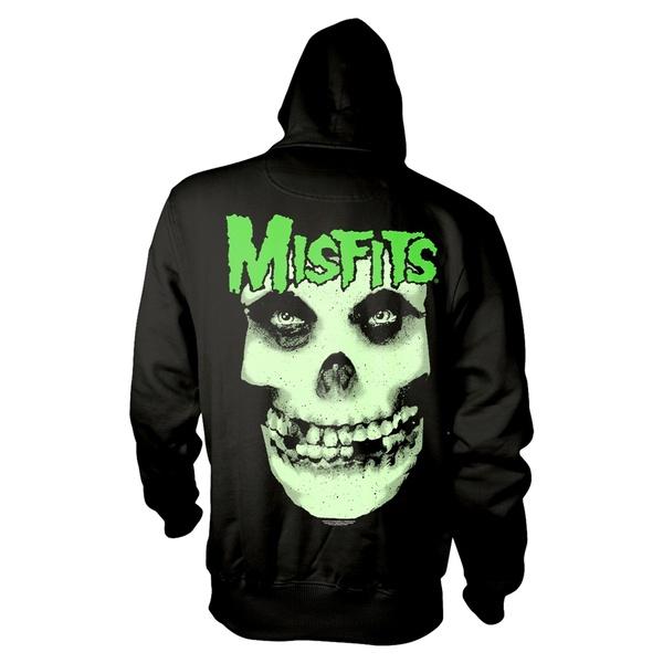 MISFITS, glow jurek skull (boy) hoodie black cover