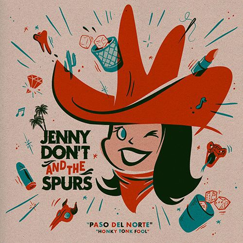 Cover JENNY DON´T & THE SPURS, paso del norte