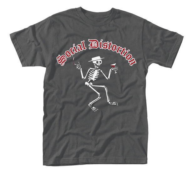 SOCIAL DISTORTION, skelly logo (boy) charcoal cover