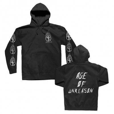 BAD RELIGION, flaming cross (boy)  black hoodie cover