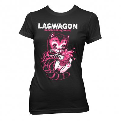 LAGWAGON, heart cat (girl) black cover