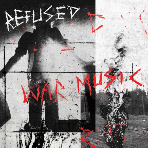REFUSED, war music (bright-red-opaque) cover