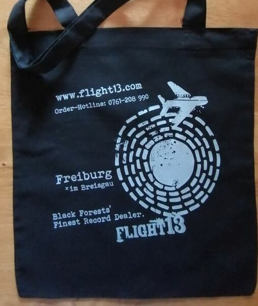 FLIGHT 13, stofftasche circle_schwarz cover