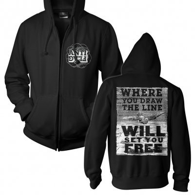 ANTI-FLAG, debate (boy) black zip-hoodie cover