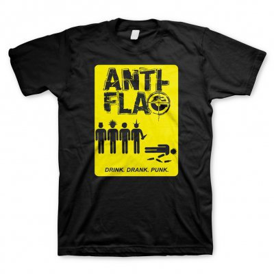 ANTI-FLAG, drink drank punk (boy) black cover