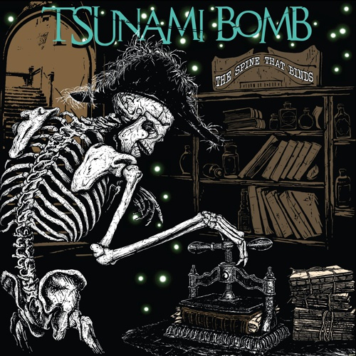 TSUNAMI BOMB, the spine that binds cover