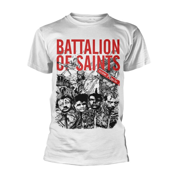 BATTALION OF SAINTS, second coming (boy) white cover